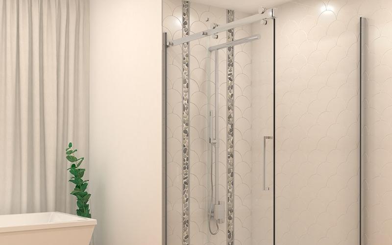 cozi, shower column, new, shower bar, bathroom